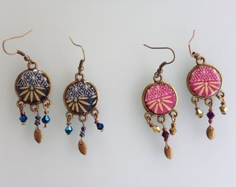 """Earring """"Attrappeuses dreams"""" in Japanese paper."""