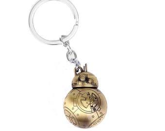 Star Wars BB8 Keyring - Bronze Jedi Force Charm