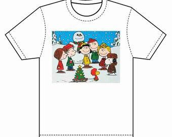 INSTANT DOWNLOAD Peanuts Snowman T-Shirt Transfer Instant Download & Print