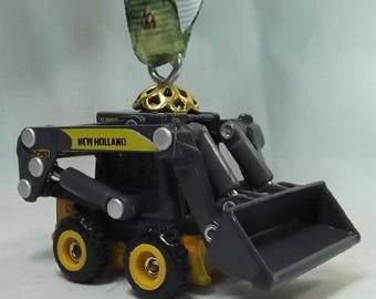 New Holland L170 Skid Steer Loader - Free Shipping - Christmas Ornament - Rear view Mirror Bling - Construction