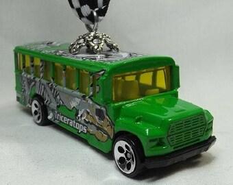 Triceratops Dinosaur School bus - FREE SHIPPING  - Christmas Ornament -