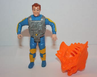 Vintage Real Ghostbusters Screaming Heroes Ray Stantz with Vermoan Loose Action Figure 1987 Kenner Original