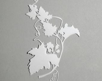 Stencil sheet of vine 15 x 19 cm - leaf vine Stencil - P9320507