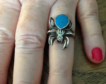 Sterling Silver Spider Ring Size 8.5
