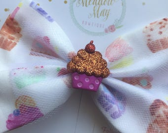 Colorful Cakes Hair Bow