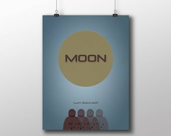 Moon,Poster print,Moon alternative movie poster printable,Sam Rockwell.Minimal film art,Instant download,Digital art,Printable files