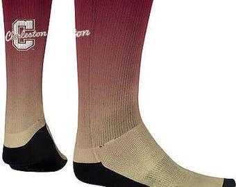 Spectrum Sublimation Men's College of Charleston Fade Sublimated Socks (COFC)