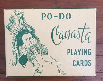 PO-DO Vintage Canasta Playing Cards