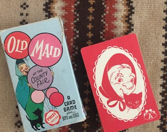 Vintage OLD MAID at the County Fair