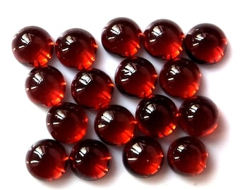 50 pieces 4mm Red Garnet Cabochon Round Gemstone, 100% natural, 4mm Red garnet round cabochon gemstone, Red garnet cabochon round gemstone