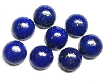10 pieces 9mm Lapis lazuli cabochon round loose gemstone, Lapis lazuli round cabochon gemstone, lapis lazuli cabochon round Gemstone