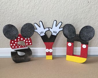 Mickey Mouse Letters