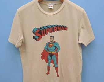 Vintage Superman Superhero Cartoon Shirt Marvel Comic Street wear hip hop funky Funny Shirt Size M