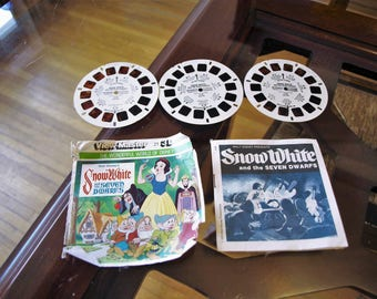 Walt Disney's Snow White and the Seven Dwarfs View Master Reels – 1979 – with Booklet and Sleeve