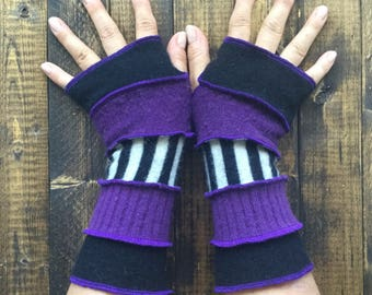 Fingerless Gloves -Made from Recycled Sweaters//Dragon Gauntlets