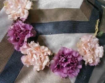 Purple & pink  Flower Crown