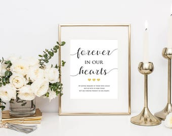 In Loving Memory Wedding Sign- Memorial Sign- Wedding Printable- Loving Memory Sign- Remembrance Sign- Memory Table Sign- Loved Ones Sign