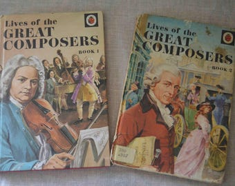 Two Vintage Ladybird Books on Famous Composers