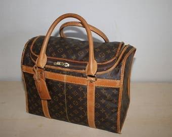 Authentic Vintage LOUIS VUITTON Monogram Sac Chaussures 40 Travel bag M41924 - (ref 1423)