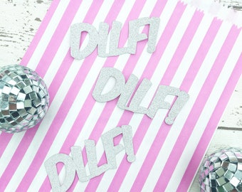 DILF Fathers Day Cup Cake Toppers (Pack of 10)