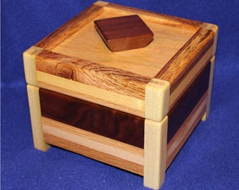 Wood What-Not-Box (poplar, cherry, cedar, maple, oak)