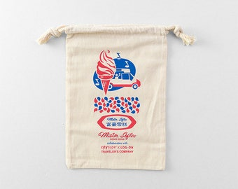 Mister Softee x Traveler's Factory collaboration Cotton Bag 07100614 Limited Log-On Hong Kong TRAVELER'S COMPANY Rare