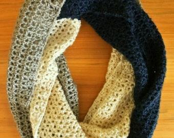 Crochet infinity scarf, Infinity scarf, Crochet scarf, scarf