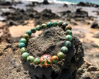 Tree of Life Bracelet with African Turquoise