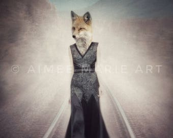 Fox Print, Fox Gifts, Anthropomorphic, Animals In Clothes, Whimsical, Quirky Art, Human Animals, Fox Art, Photo Prints, Fox Pictures