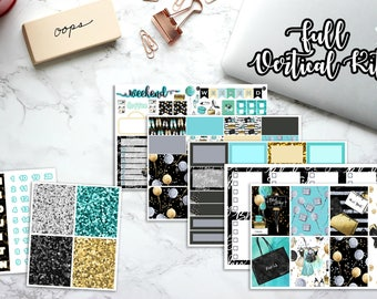 Erin Condren Planner Stickers, Happy Planner, Vertical, Recollections, No White Space, Weekly Kit, Black Friday, Shopping Holiday, Christmas