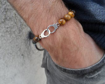Tiger eye gemstone bracelet / charm