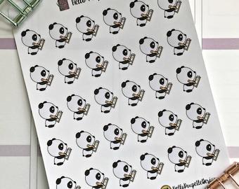 Anna the panda mini stickers - list making
