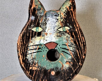 Cat Face Haiti Birdhouse