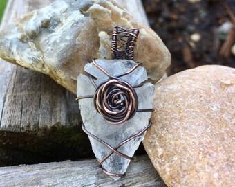 Clear Quartz Arrowhead Necklace