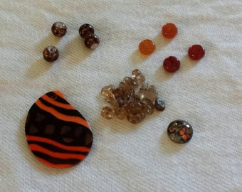 Bead Kit, Jewelry Kit, Craft Kit, Monarch Butterfly,  Orange and Brown