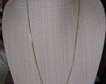 Monet Gold Tone Chain Link Necklace