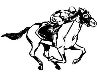 Horse Racing #2 Jockey Track Betting Stallion Equestrian Competition Sport .SVG .EPS .PNG Instant Digital Clipart Vector Cricut Cut Cutting