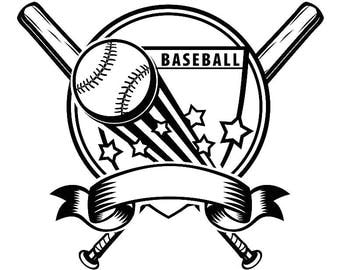 Baseball Logo #10 Tournament Ball Bat Glove Diamond League Equipment Team Game Field Sports Logo .SVG .EPS .PNG Vector Cricut Cut Cutting