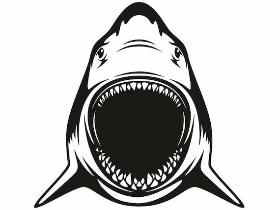 Great White Shark 10 Jaws Ocean Killer Fish Mascot Logo Svg