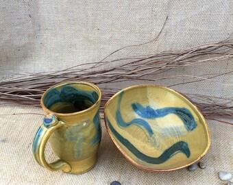 Hand Thrown Southwest Bowl and Mug Set