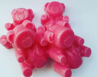 Blonde Moment,Handmade,Teddy Bear, Strong Scented, Long Lasting, Wax Melts, Wax Tarts