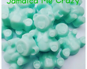 Jamaica Me Crazy Wax Melts, Teddy Tarts, Teddy Wax Melts, Scented Wax Melts, Novelty Wax Melts, Teddy Bear Gifts, Strong Scented Melts