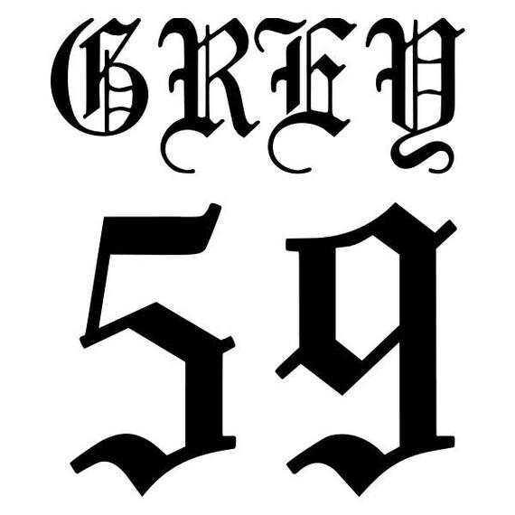 Grey 59 Vinyl Decal Sticker For Car Truck Window G59 Suicide