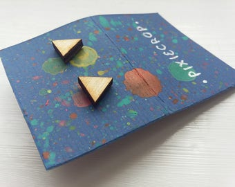 Wooden Triangle Studs