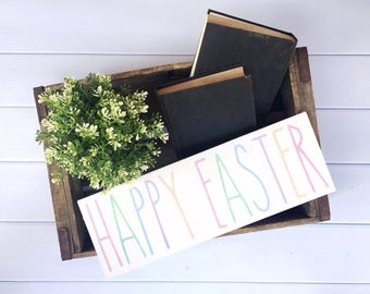 Happy Easter Hand Painted Wood Sign