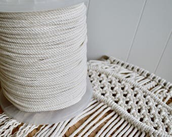 Cotton rope 4mm X 220m - 3 strand (approx. 1,5kg)