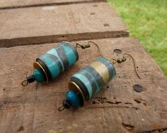 Greenpeace paper bead Earrings