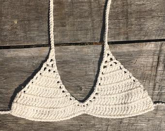 Love Street bikini top. crochet bikini top, crochet bikini