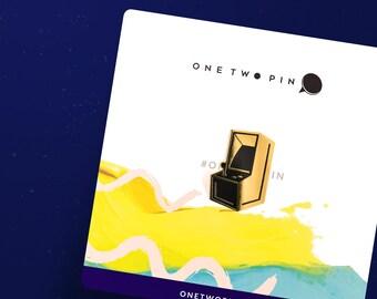 Arcade Pin - Gold Plated Enamel Lapel Pin