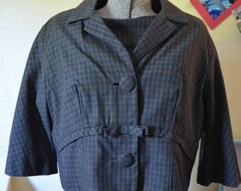 1960s Henry Lee Dress   Vintage Black Dress   Dress and Jacket Set   Size Medium